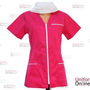 Bluza medicala cu fermoar